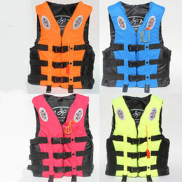 Jacket Water Australia - 4 Color 6 Size Life Vest For Kids & Adult Fishing Vests Professional Sandbeach Water-Skiing Surfing Jacket Safety Jackets