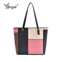 $enCountryForm.capitalKeyWord NZ - YBYT brand 2018 new patchwork totes large women shopping handbags hotsale joker briefcase package ladies shoulder messenger bags