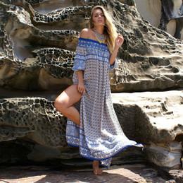 $enCountryForm.capitalKeyWord Canada - 2018 Designer Casual Dresses for Women Bohemia Long Dresses Geometric Pattern European Womens Clothing Elastic Free Size Drop Shipping