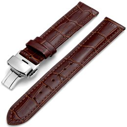 19mm watch bands NZ - hot sale product in stock 12-24mm, 19mm, 21mm quick release calf head skin genuine leatcher wrist watch band strap