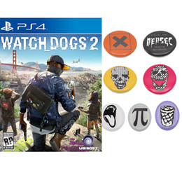 Badge Accessories Australia - ccessories Costumes Badge Watch Dogs 2 Badges 7pcs set Marcus Cosplay Brooches Pins Collectibles Fashion Costume Accessories Halloween C...