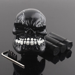 skull gear shift knobs NZ - Manual Operation Car Gear Shift Knob Shifter Lever Resin Skull Black Custom New