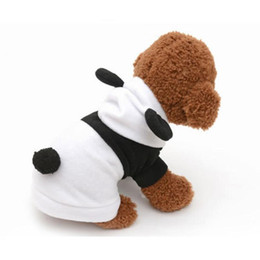 China Fashion Dog Clothes For Dogs Pets Costume Clothing Fleece Ear Hoodie Dog Clothes Panda Pullover Coat Costume Outwear supplier hoodies hoodie panda suppliers