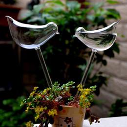 $enCountryForm.capitalKeyWord Canada - 2pcs  Lot Home Decor Birds Shape Garden Glass Plant Pots Flowerpot Glass Indoor Garden Automatic Watering Pots Potted Hot Selling