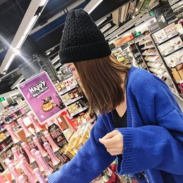 $enCountryForm.capitalKeyWord Australia - Solid color warm woolen hat fall and winter vintage ear protection soft knit cap thickening Japanese hat