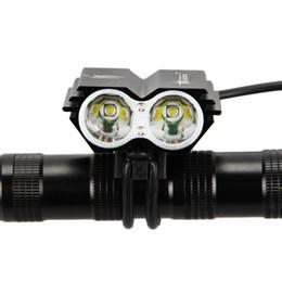 Vente en gros SolarStorm X2 Vélo Lumière 7000Lumens 2x XM-L T6 Led Vélo Phare Nuit Vélo Tête Lumière Vélo Lampe Torche + Chargeur + Batterie