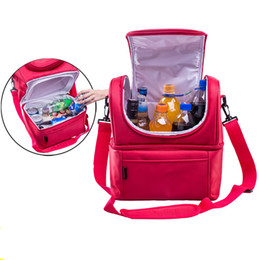 Picnic Ice Packs Australia - Oxford Fabric Ice Pack Cooler Bag Picnic Bag Set Lunch Box Bag Multi-function Outdoor Camping Portable Handbag For Outdoor