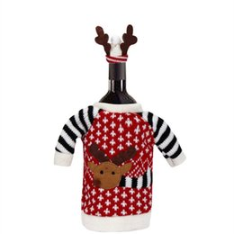 $enCountryForm.capitalKeyWord Australia - WS Christmas Deer Elk Style Red Wine Champagne Bottle Covers Bag For New Year Christmas Decorations Ornament