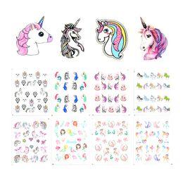 $enCountryForm.capitalKeyWord NZ - Meet Across 1 Sheet Unicorn Nail Water Sticker Mermaid Rainbow Cartoon Design Slider Nail Art Decal Beauty Foils Decoration