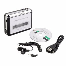 Wholesale Buona voce USB Cassette Recorder Registratore Radio, nastro per PC Convertitore Super Cassette USB in MP3