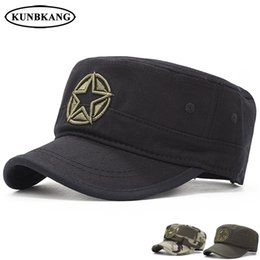 New Army Camouflage Flat Top Cap Men Embroidery Star Cotton Hat Male Summer  Casual Tactical Camo Snapback Baseball Caps Dad Hat ccd0302093ef