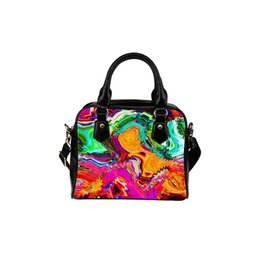 0e89da3b87b0 Custom tote bag printing online shopping - Custom Logo Shoulder Bag  Colorful Prints Handbag Art Style