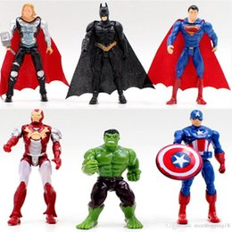 Iron Man Mini Toys NZ - 10pcs a lot T03 Iron Man Hulk Superman Batman Avengers Captain America Superheroes Thor toy