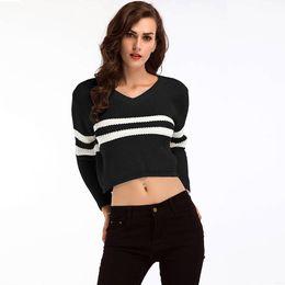 a3553024911 Short Sleeve batwing ladieS Sweater online shopping - Women Lady Girl V  Neck Long Sleeve Short