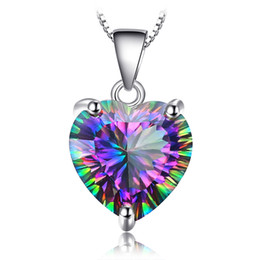 d511f5ac3d7 JewelryPalace 4ct Genuine Nature Rainbow Topaz Combination Pendant Trillion  Concave Cut Solid Color 925 Sterling Silver Fashion