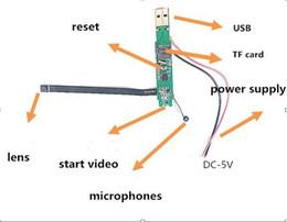 Venta al por mayor de HD Módulo DIY Cámara de seguridad Placa de circuito con tarjeta Micro SD MINI DV DVR portátil Mini Videocámara Grabadora de audio y video