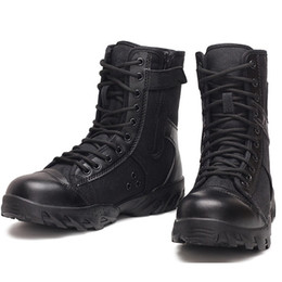Chinese  Army boots summer breathable black canvas combat boots men special forces high side tactical boots security guard duty shoes manufacturers