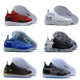 ad6eb1ea0d7 2018 KD 11 Basketball Shoes Black Grey Persian Violet Chlorine Blue  Sneakers Kevin Durant 11s basketball sneakers us size 7-12