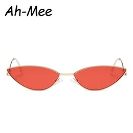 09bae8b036f Cheap Sunglass Brands Australia - Vintage Small Cat Eye Sunglasses Women  New Trending Cateye Sunglass Alloy