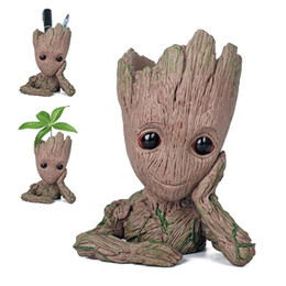 $enCountryForm.capitalKeyWord NZ - Guardians of The Galaxy Flowerpot Baby Action Figures Cute Model Toy Pen Pot Best Christmas Gifts For Kids Home Decoration