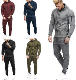 Sport Long Tight Pants Men NZ - mens designer winter tracksuit hoodie legging outfits long sleeve sports set jacket tights sports suit coat pants sportswear men clothing h4