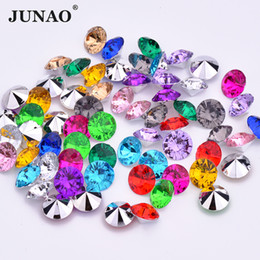 Crystal 3mm NZ - JUNAO 1000pc 3mm Mix Color Crystals Pointback Acrylic Rhinestones Round Nail Art Stones Non Sewing Crystal Strass for Clothes Jewelry Crafts