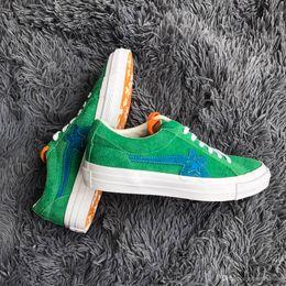 d7a6a2374c00 (With Shoes Box)Men s Designer Tyler the Creator X One Star Golf le Fleur  TTC Mens 12 NIB Solar Power Sneakers Trainers Shoes Canvas sh