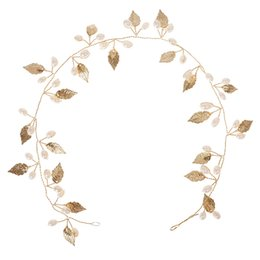 $enCountryForm.capitalKeyWord UK - New Party Wedding Hair Jewelry Accessories Gold-Color Leaf Costume Hair Chain Hairwear Metal Wedding Headchain For Women