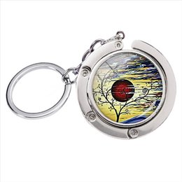 silver plants NZ - BH-003 New Fashion Vintage The Tree of Life Art Glass Cabochon Photo Bag Hanger Silver Keychain Hand Craft Accessories Keyring Women