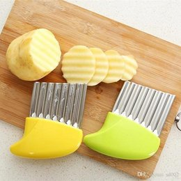 Portable slicer online shopping - Multi Function Potato Slicer Wavy Cutter Portable Kitchen Gadgets Fries Vegetable Tools Strip Cutter Stainless Steel ym Ww