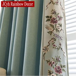 Luxury Window Cottons Australia - Embroidered Blackout Curtains For Living Room Bedroom Chinese Curtains Fabric Drapes Cloth Blinds Luxury For Window
