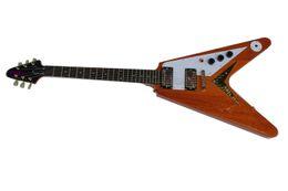 guitar flying v 2019 - Free shipping Korina flying-V light yellow elctric guitar cheap guitar flying v