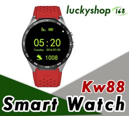 $enCountryForm.capitalKeyWord NZ - KW88 3G Smart watch Android 5.1 IOS watchs Quad Core support 2.0MP Camera Bluetooth smartwatch SIM Card WiFi GPS Heart Rate Monitor 5pcs