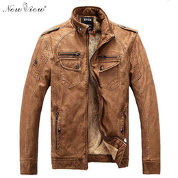 $enCountryForm.capitalKeyWord Canada - Wholesale- 2017 Men Jacket PU Leather Winter Thick Stand Collar Windbreak Motorcycle Coat Casual Parka Leather Jacket With Fur Size S-3XL