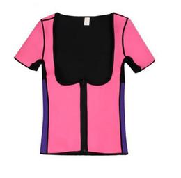 f0ddffc1c9 Hot Sweat Body Shapers Women Slimming Vest Tops Thermo Neoprene Waist Short  Sleeve Shapewear Plus Size S-3XL