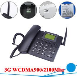 3G WCDMA900 / 2100Mhz 3G Téléphone de bureau double bande fixe sans fil 3G Téléphone de bureau pour la famille d'affaires avec batterie rechargeable