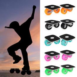 Aluminum Pedals Australia - Portable Drift Board For Freeline Roller Road Driftboard Skates Anti -Skid Skate Board Skateboard Aluminum Pedal And Pu Wheels