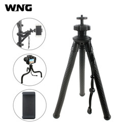 panoramic tripod heads 2020 - Flexible Octopus Aluminum Tripod with 360 Panoramic Ball Head Phone Holder for iPhone Nikon Canon DSLR Camera Gopro Hero