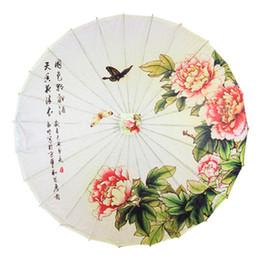 China New Arrival Classical Oilpaper Umbrella Bamboo Parasol Stage Performance Prop Dance Umbrella Handmade Craft Parasol supplier bamboo umbrella parasol suppliers