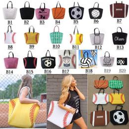 $enCountryForm.capitalKeyWord Canada - 20 styles Canvas Bag Baseball Tote Sports Bags Fashion Softball Bag Football Soccer Basketball Cotton Canvas Tote Bag