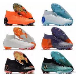 2018 New High Tops Soccer Cleats Socks ACC Mercurial Superfly VI 360 Elite  FG Football Boots CR7 Cristiano Ronaldo Neymar JR Soccer Shoes 5df2ab436