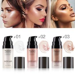 Face Glow Cream Australia - Liquid Highlighter Face Makeup Illuminator Glow Kit Make Up Brighten Shimmer Cream Facial Bronzer Contour Cosmetic