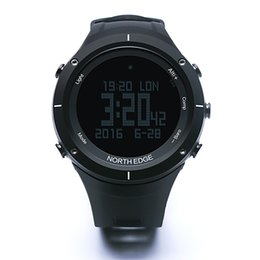 Thermometer Altimeter NZ - NORTH EDGE Men's sport Digital watch Hours Running Swimming watches Altimeter Barometer Compass Thermometer Weather Pedometer