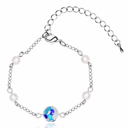 $enCountryForm.capitalKeyWord Canada - Cross-border European and American foreign trade blasting with glass beads fine stainless steel chain bracelet adorn article