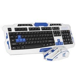 Беспроводная клавиатура и мышь комбо тонкий 2.4 ГГц клавиатура 104 клавиши с приемником для офиса игровой эргономичный 2 шт