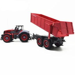 Chinese  Farmer Tractor car 1:28 2.7MHZ Radio Remot Control Construction RC car Dump truck For Kids birthday Gift Toys manufacturers
