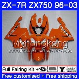 1999 Kawasaki Zx7r NZ - Body For KAWASAKI NINJA ZX 7R ZX750 ZX7R 96 97 98 99 203HM.2 ZX-750 ZX 7 R ZX 750 ZX-7R full Gloss orange 1996 1997 1998 1999 2003 Fairing
