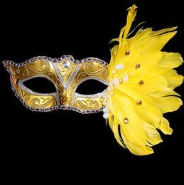 Colored Face Masks Australia - Masquerade Mask Christmas Colored Feather Mask Halloween Birthday Party Festive Women's Fashion Mask Stage Performances Supplies