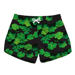 0a00d97250 Ladies Swim Shorts UK - Women Short Beach Shorts Clover 3D Full Print Girl  Casual Swimming