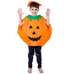 54de4b1774 Kids Cosplay Outfit UK - Halloween Children Pumpkin Costume Fancy Dress  Halloween Party Pumpkin Cloak Cosplay